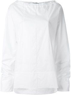 блузка с вырезом на завязках Marni