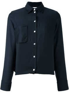 рубашка с накладным карманом Courrèges