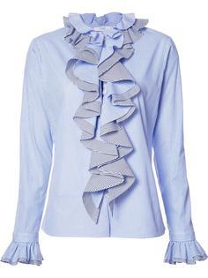 рубашка   Thin Stripe Longsleeved Ruffled  Tome