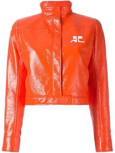 виниловая укороченная куртка Courrèges