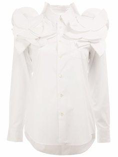 рубашка с объемными аппликациями Junya Watanabe Comme Des Garçons