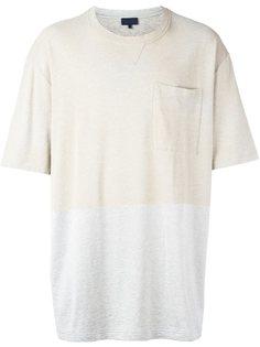 двухцветная футболка  Lanvin
