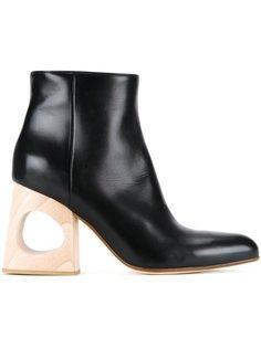ботинки на контрастном каблуке  Marni