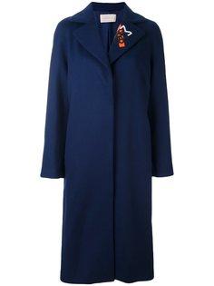 пальто с вышивкой на воротнике Christopher Kane