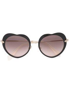 солнцезащитные очки с оправой в форме сердца Miu Miu Eyewear