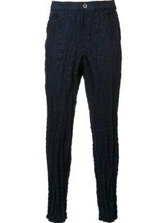 текстурированные брюки скинни Issey Miyake