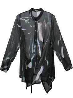 полупрозрачная асимметричная блузка Ann Demeulemeester