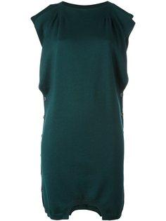платье-свитер с контрастными рукавами Mm6 Maison Margiela