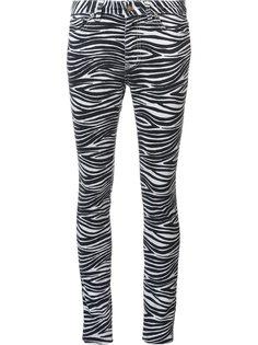 джинсы кроя скинни с зебровым принтом Saint Laurent
