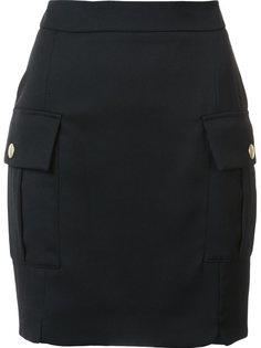 мини-юбка с карманами с клапанами Pierre Balmain
