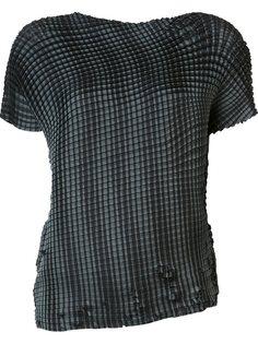 Grid Pleats T-shirt Issey Miyake