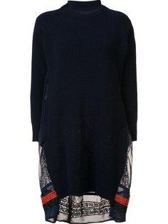 вязаное платье с вышивкой Sacai