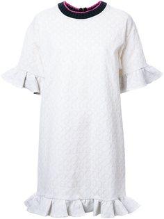 жаккардовое платье с рюшами Marni