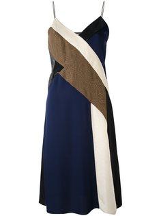 платье дизайна колор-блок Dvf Diane Von Furstenberg
