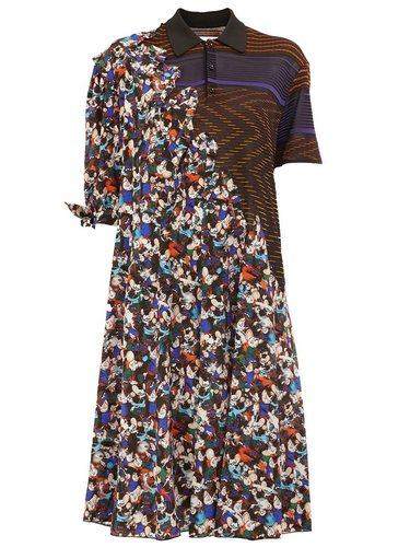 платье-рубашка с контрастными узорами Maison Margiela