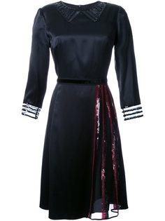 атласное платье с пайетками Marc Jacobs
