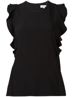 блузка с оборками Carven