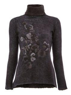 свитер с высокой горловиной и вышивкой Avant Toi