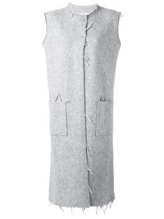 пальто без рукавов с необработанными краями Maison Margiela