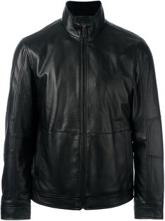 кожаная куртка на молнии Michael Kors