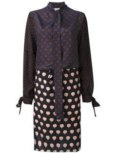 платье с орнаментом Lanvin