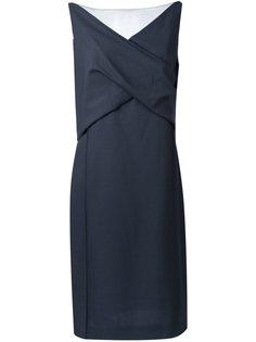 платье длины миди с отделкой внахлест Nina Ricci
