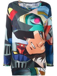 блузка с принтом manga Julien David