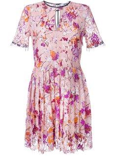 кружевное платье с растительным принтом MSGM
