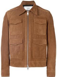 замшевая куртка на молнии Ami Alexandre Mattiussi