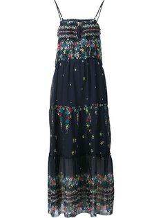 длинное платье с оборками Sea