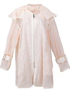 прозрачная куртка свободного кроя Sacai