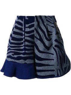 шорты с оборками и анималистическим узором Kolor