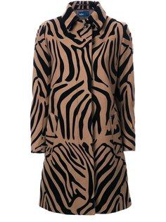пальто с зебровым принтом  Kolor