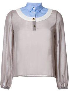 блузка с контрастным воротником  Kolor