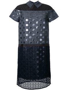 платье-шифт с панелью в горох Kolor