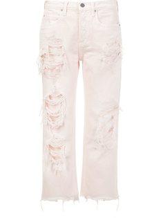 укороченные джинсы с рваной отделкой Alexander Wang
