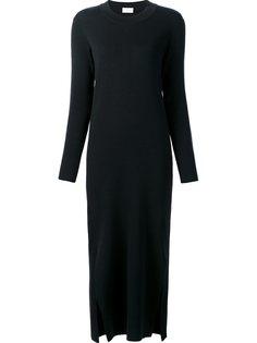 платье с длинными рукавами и боковой шлицей Lemaire