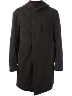 пальто в полоску с капюшоном Ziggy Chen