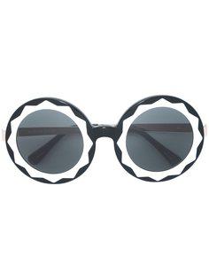 круглые крупные солнцезащитные очки Linda Farrow Gallery