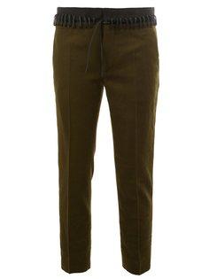 брюки с кружевным поясом Haider Ackermann