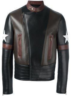 байкерская куртка с заплатками в виде звезд Givenchy
