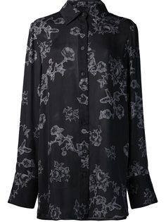 рубашка с цветочным принтом Vera Wang