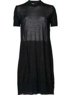 платье с тюлевой вставкой Vera Wang