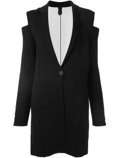 трикотажное пальто с вырезами на плечах Vera Wang