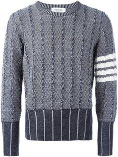 свитер с панельным дизайном  Thom Browne