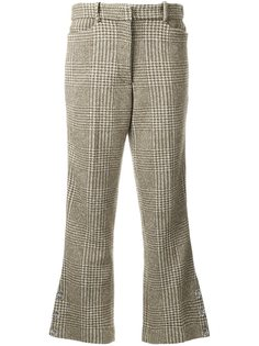 расклешенные брюки в ломаную клетку Simone Rocha