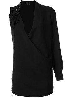 платье на одно плечо со шнуровкой Anthony Vaccarello