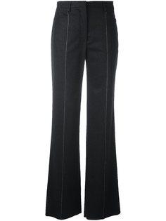 расклешенные брюки в тонкую полоску Salvatore Ferragamo