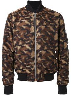 куртка-бомбер с камуфляжным принтом  Public School