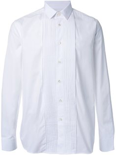 рубашка с плиссированной панелью Saint Laurent